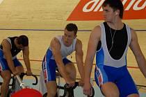 Sprinteři (zprava) Denis Špička, Tomáš Bábek a Adam Ptáčník.
