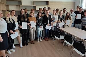 V září se podařilo vyslat devatenáct studentů Obchodní akademie a vyšší odborné školy Brno, Kotlářská na dvoutýdenní praxi, tentokrát do irského Dublinu