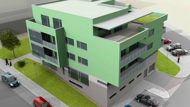 Vizualizace: Do dvou let má vyrůst mezi Teyschlovou a Kavčí ulicí zdravotní středisko. Kromě čtyř ordinací a lékárny nabídne také osm nových bytů. To se však nelíbí některým obyvatelům okolních domů.