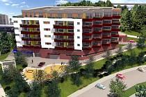 Polyfunkční dům v Novém Lískovci nabídne byty pro šedesát rodin.
