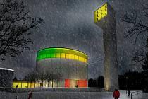 Vizualizace plánovaného kostela na Lesné.