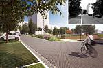 Více místa pro lidi, více zeleně, nové chodníky pro pěší a méně aut – tak by se mohlo v budoucnu proměnit Halasovo náměstí na jednom z největších brněnských sídlišť Lesná.