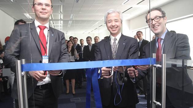 První evropské inovační centrum japonské společnosti Konica Minolta, které se ve středu otevřelo v Brně. Bude jedním z pěti světových takzvaných Business Innovation Center.