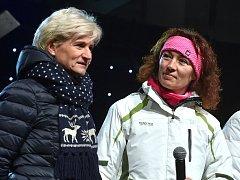 Bývalé biatlonistky Eva Háková a Jiřina Pelcová.