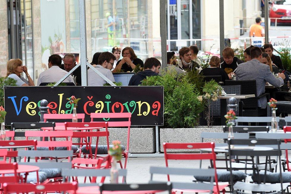 Popíjení alkoholu v centru Brna.
