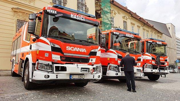 Oslavy 155 let brněnských profesionálních hasičů.