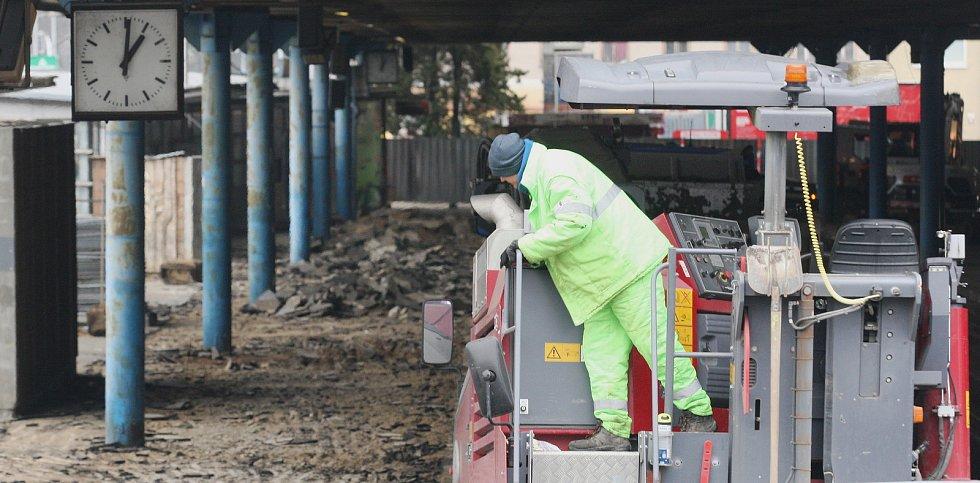 Brno 28.1.2020 - oprava brněnského autobusového nádraží na Zvonařce