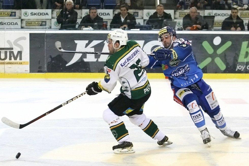 Kometa porazila Karlovy Vary v prodloužení 2:1.