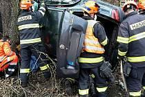 Nehoda auta u Oslavan na Brněnsku.