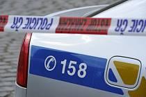 Policejní automobil, páska - ilustrační foto.