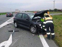 Nehoda dvou aut u Pohořelic.