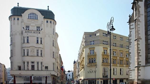 Historické domy v centru Brna. Ilustrační foto.