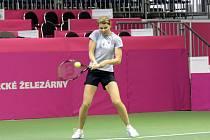 Lucie Šafářová při tréninku