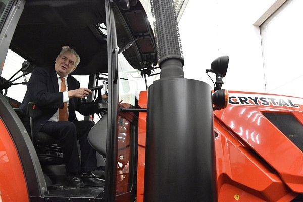 Prezident Miloš Zeman při návštěvě Zetoru.