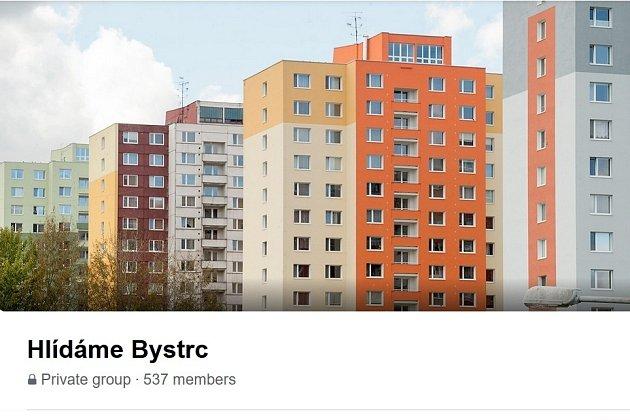 Printscreen facebookové skupiny Hlídáme Bystrc.