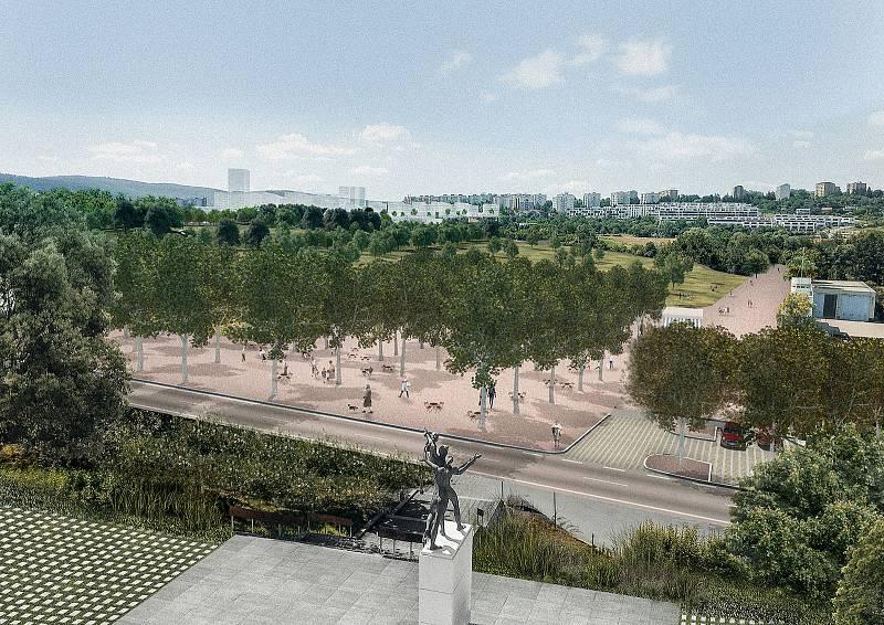 Přístaviště z pohledu chodce od Sdružení Pelčák a partner architekti a HBH Projekt.