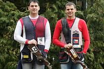 Brokoví střelci Jiří Lipták (vlevo) a David Kostelecký v olympijské přípravě.