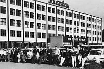 Automobilová rally v East Tilbury roku 1950.