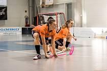 Obránkyně Anna Bachratá (vlevo) bude nově hájit barvy celku FB Riders ve švýcarské nejvyšší soutěži.