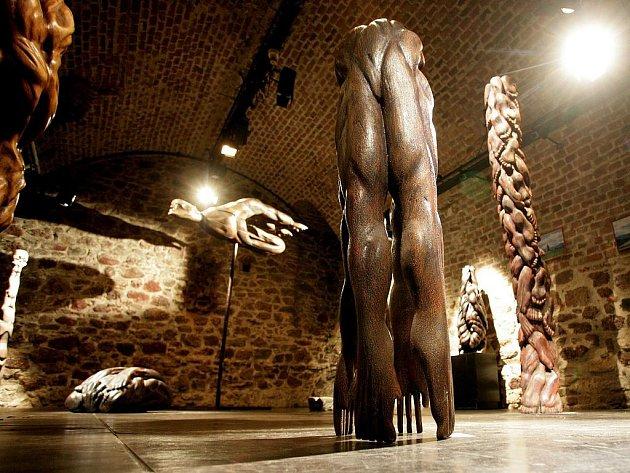 Výstava soch Jana Šimka.