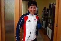 Triatlonistka Lenka Zemanová (dříve Radová) před odletem na olympiádu.