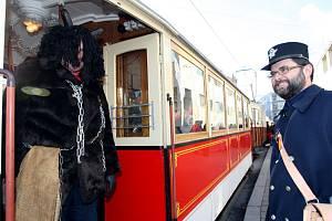 Mikulášská tramvaj v Brně.
