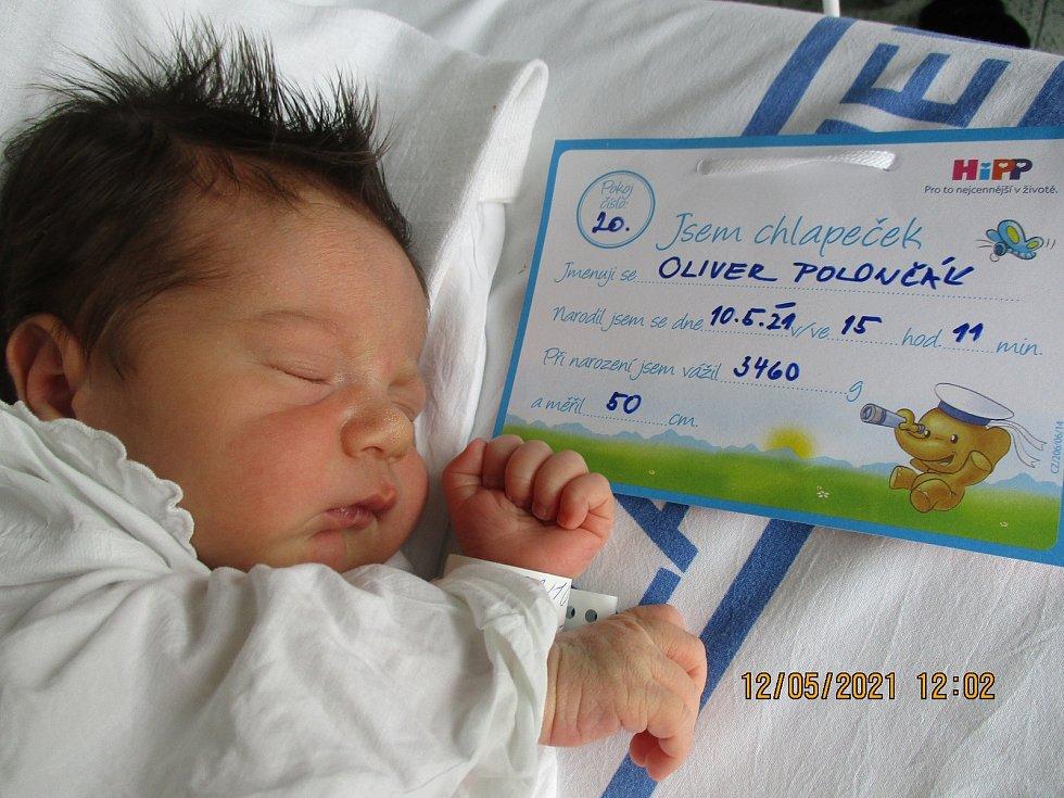 Oliver Polončák, 10. května 2021, Bulhary, Nemocnice Břeclav, 3460 g, 52 cm