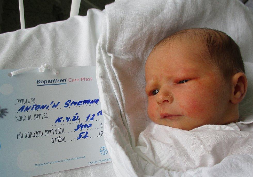 Antonín Smetana, 16. 4. 2021, Novosedly, Nemocnice Břeclav, 3410 g, 52 cm