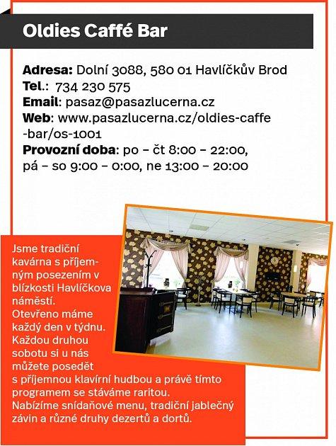 Oldies Caffé Bar, Havlíčkův Brod
