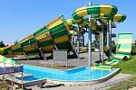 Nový dětský vodní hrad připravil pro návštěvníky Aqluand Moravia v Pasohlávkách. Ve čtvrtek po koronavirové pauze otevírá.