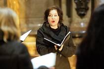 Vystoupení vokálního souboru Tiburtina ensemble v kostele sv. Jakuba v Brně.