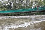 Brno 16.10.2020 - řeka Svratka a splav v Komíně