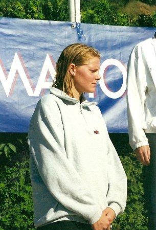 Plavkyně Pavla Chrástová.
