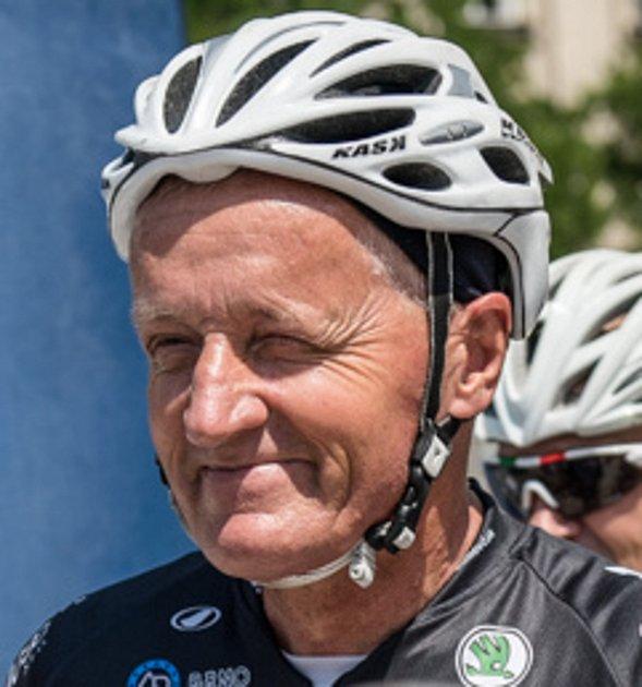 Josef Zimovčák, mistr světa vjízdě na vysokém kole, Hodonín