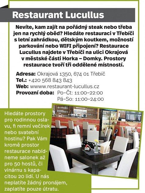 Restaurant Lucullus, Třebíč