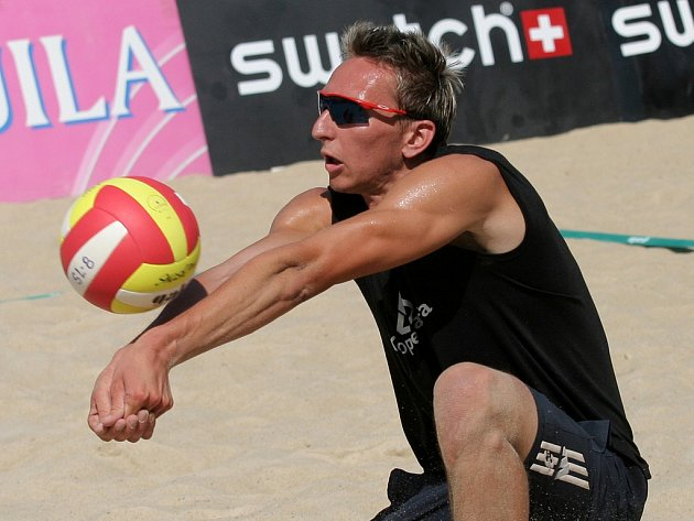 Brněnský beachvolejbalista Pavel Rotrekl.