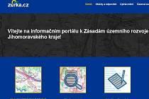 Print screen webové stránky www.zurka.cz.