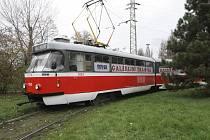 Pojízdná výstava v galerijní tramvaji Po cestách vlasti v Brně.