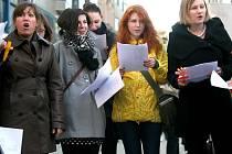 Brněnští studenti při takzvaném týdnu neklidu.