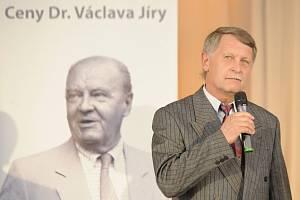 František Štambacher převzal za zásluhu o rozvoj českého fotbalu Cenu Václava Jíry.