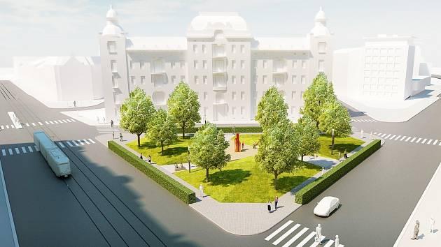 Vizualizace Konečného náměstí.