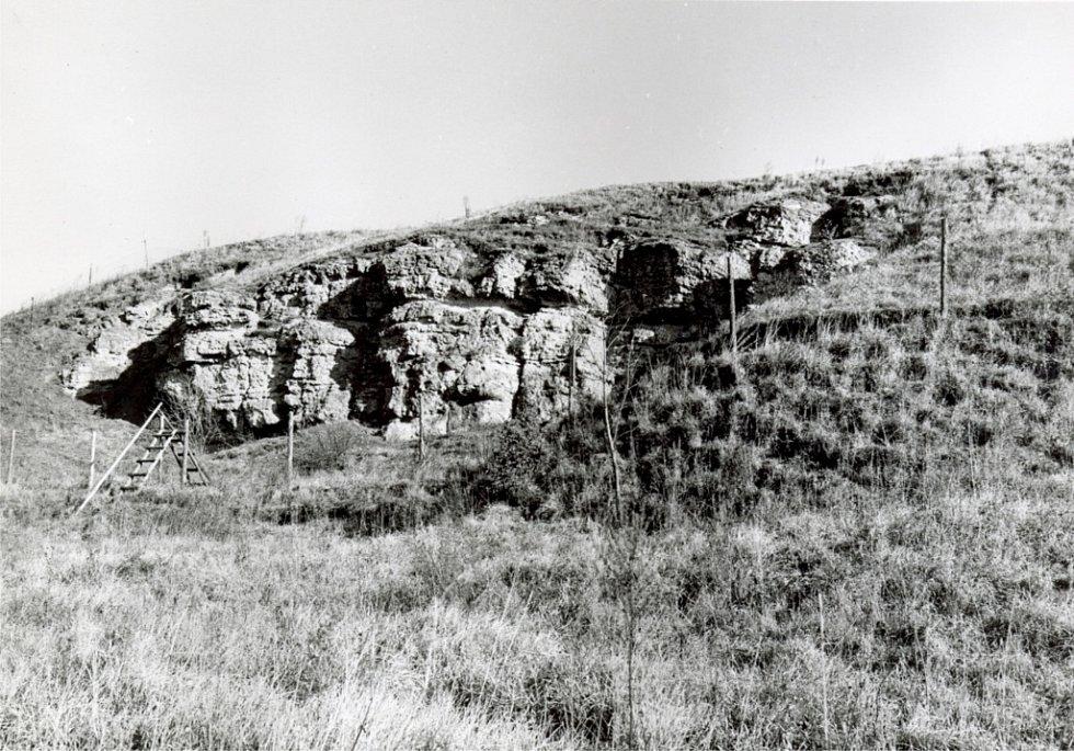 Mechovkový útes (dobový snímek).