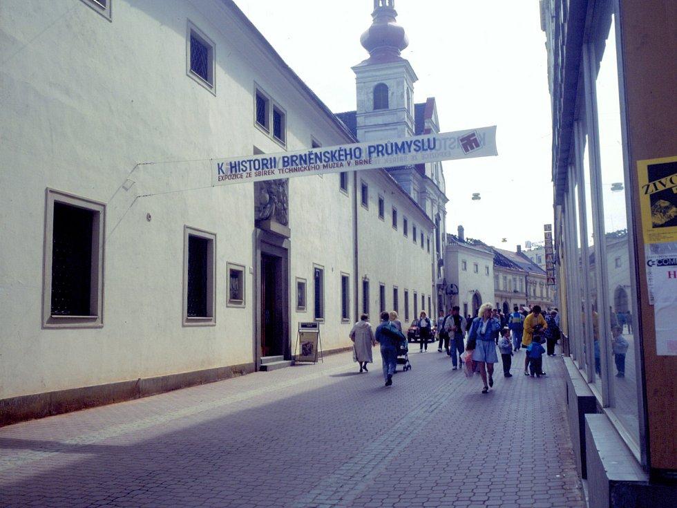 Prostory v Josefské ulici, které bývaly hlavním sídlem Technického muzea Brno.