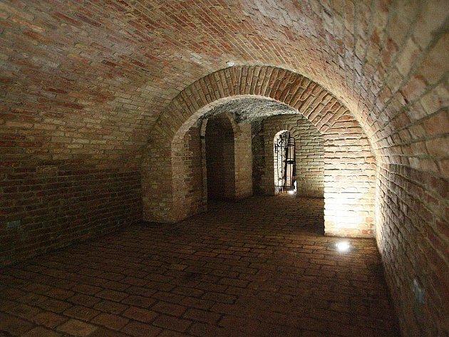 Podzemí pod Zelným trhem.