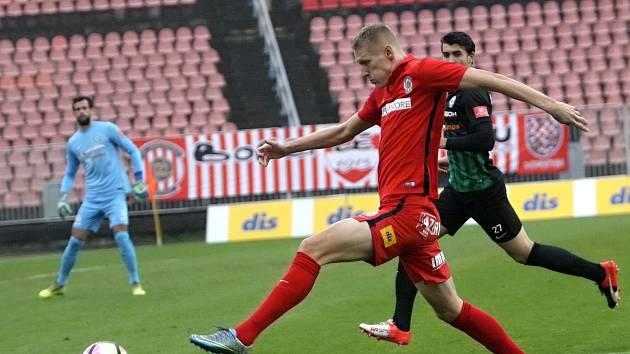 Michal Škoda dal v zápase s Příbramí dva góly.