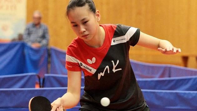 Snažím se přizpůsobit, říká čínská stolní tenistka Liu Jing Xuan