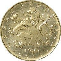 Nová dvacetikoruna vydaná ke stému výročí měnový odluky od Rakousko-Uherska.