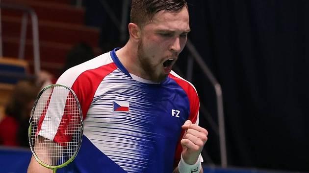 Brněnský badmintonista Adam Mendrek.