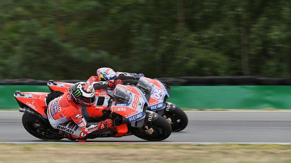 Nedělní Grand Prix České republiky - Jorge Lorenzo a Andrea Dovizioso