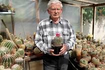Sběratel kaktusů Stanislav Stuchlík.